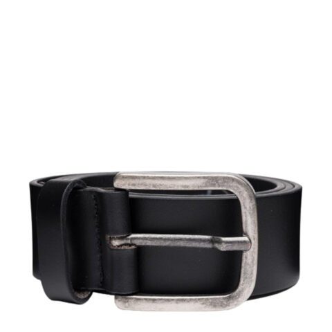 Replay Black Smooth Leather Belt