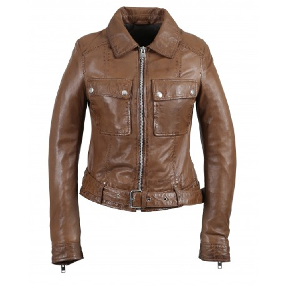 Oakwood VICKY Cognac Genuine Leather Jacket