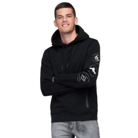 Archive Replay Blue Jeans Graphic Hoodie Black