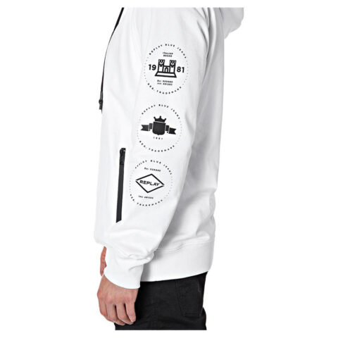 Replay Archive Blue Jeans Men's Graphic Hoodie