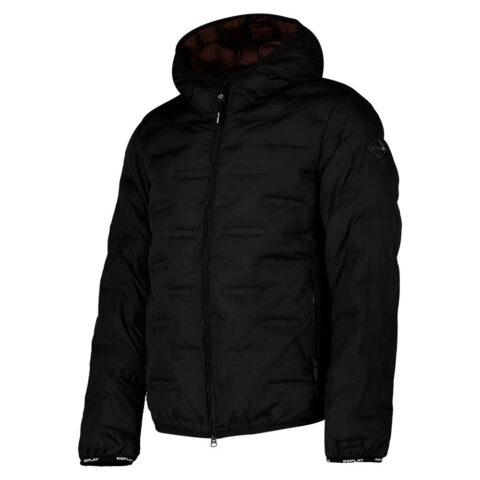 Replay Men's Black Recycked Puffer Jacket