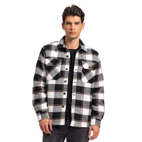 Staff Castor Man Checked Faux Fur Over-Shirt