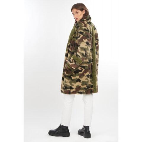 Oakwood Jumping Women's Camo Fake Fur Long Coat