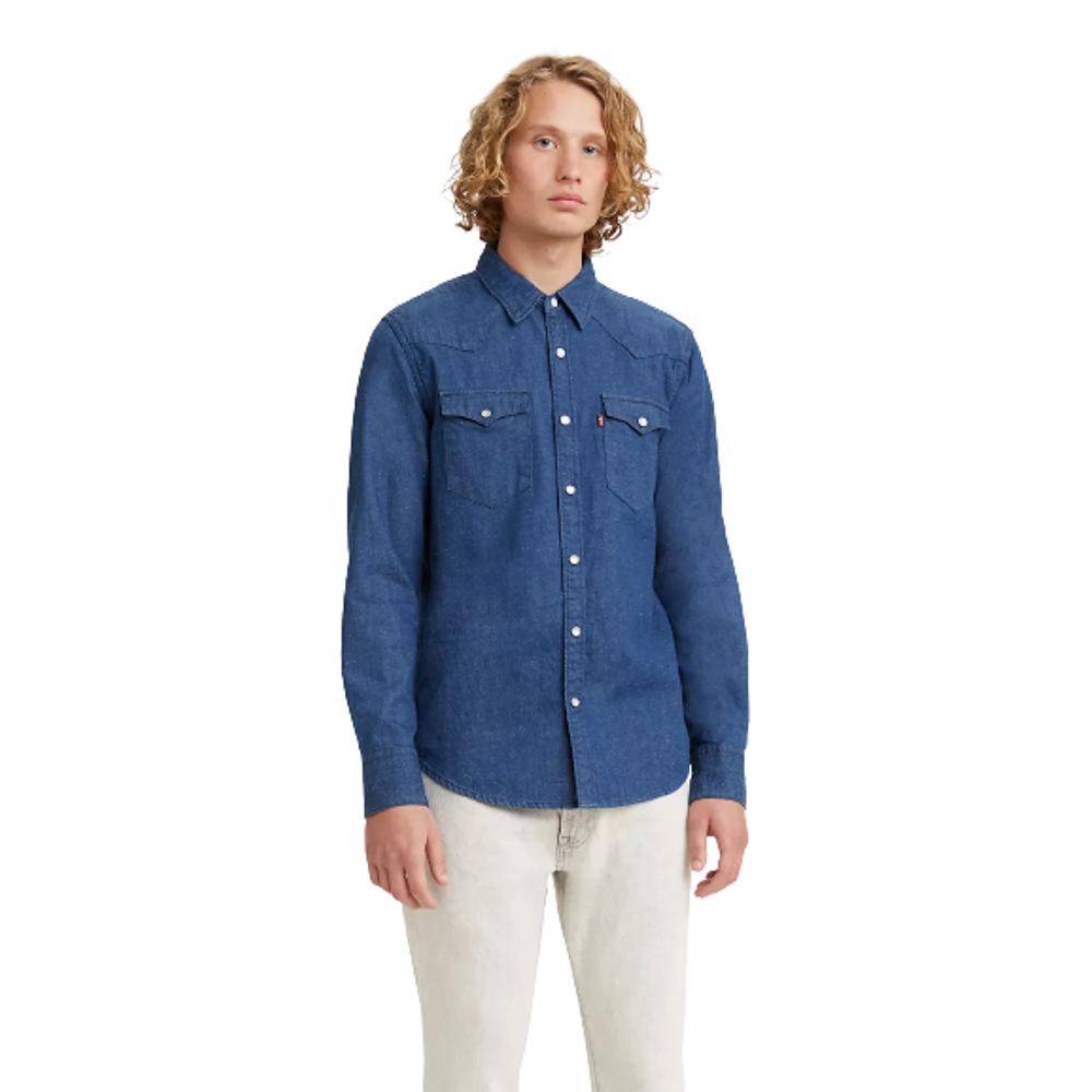 Levi's® Men's BARSTOW Western Shirt Blue-Denim