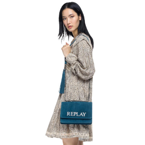 Replay Frilled Dress With All-Over Print